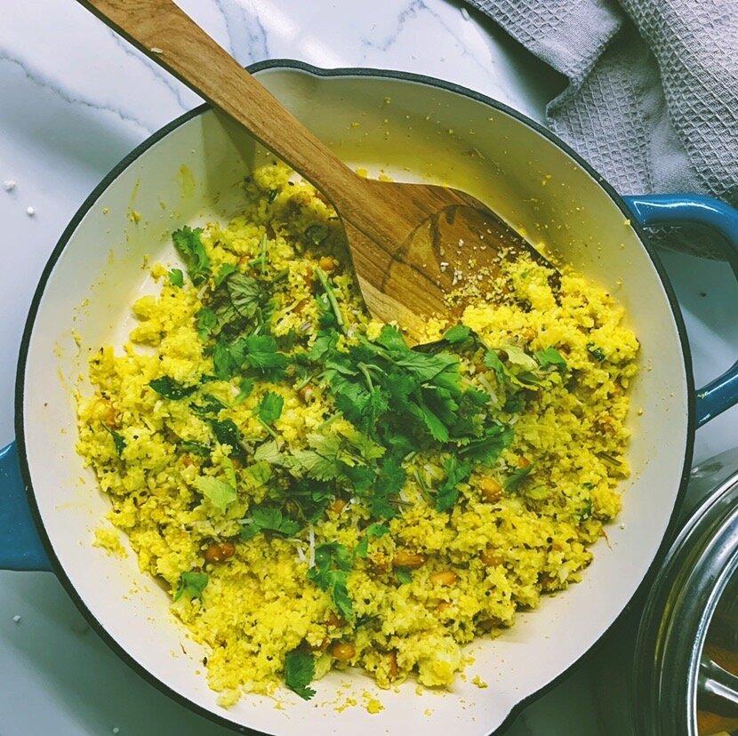 Turmeric Lemon Cauliflower Rice
