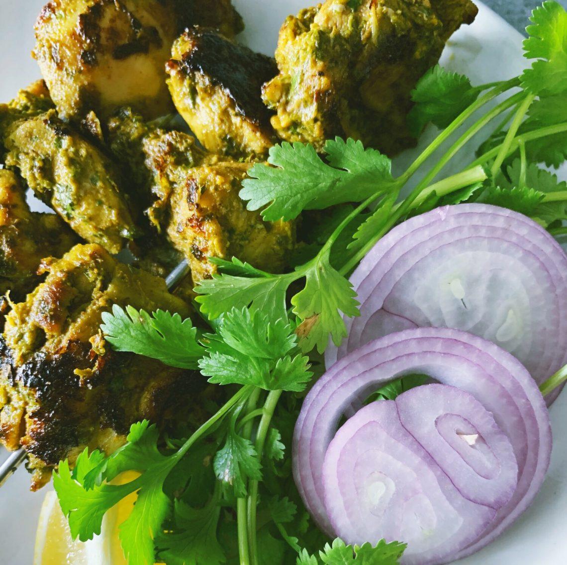 Paleo Hariyali Chicken Tikka