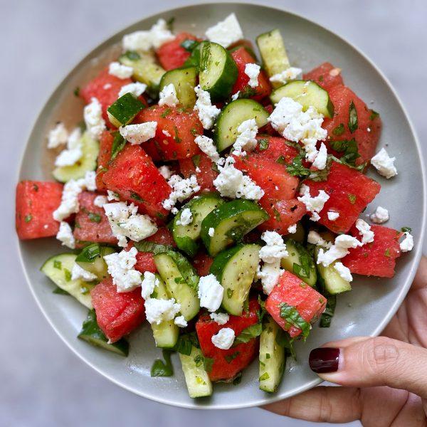Watermelon Cucumber & Feta Salad