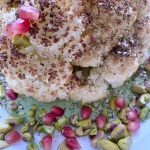 Whole Roasted Cauliflower with Herbed Tahini